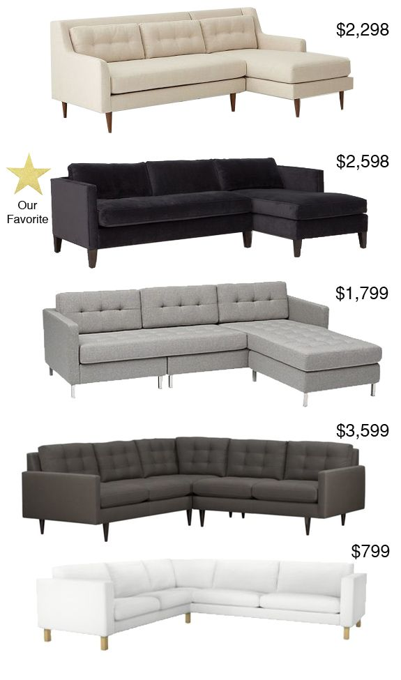 The Best Sectionals Under $3600 - Peppermint Bliss Of course the one I want is the the $3600 one!!!! Still, it doesn't break the bank...