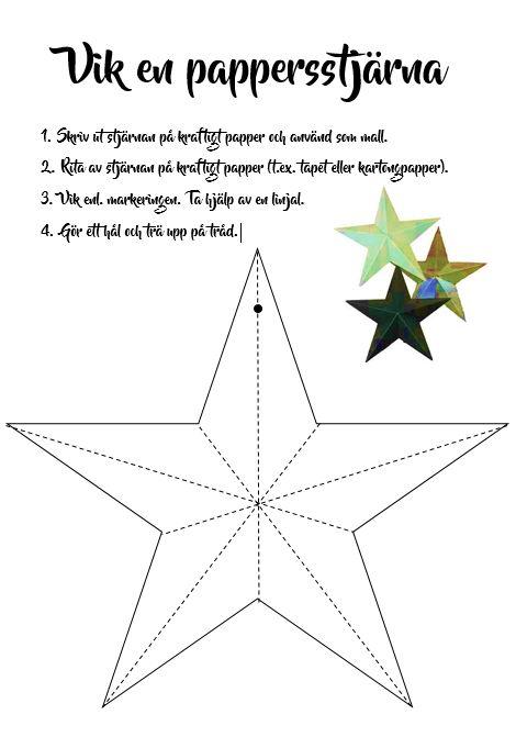 Vik en pappersstjärna