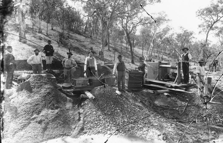 Gold mining around the early 19th century