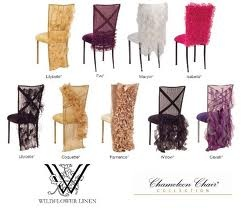 Vogue Chairs Wedding & Event Chair Cover Ideas