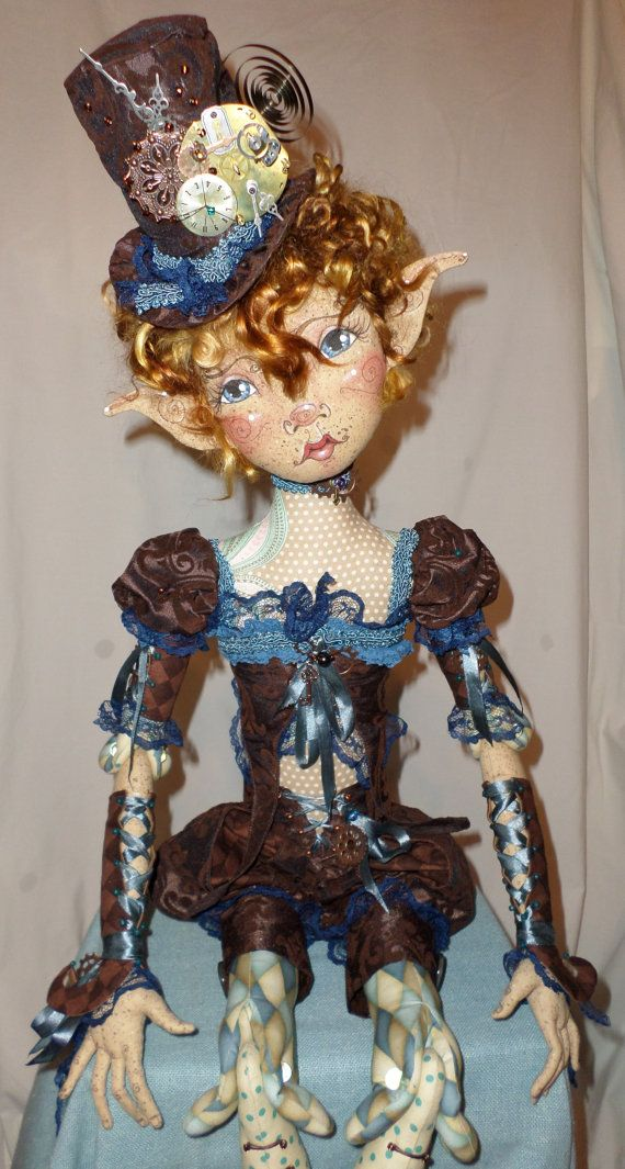 OOAK Cloth Fiber Art Doll  Pippa Grace by paulasdollhouse on Etsy $595.00