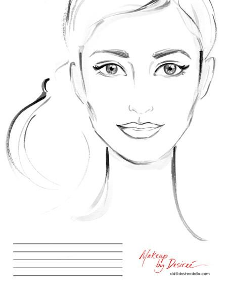 She's A Beauty...Another face chart for makeup artist Desiree Delia! xoxo