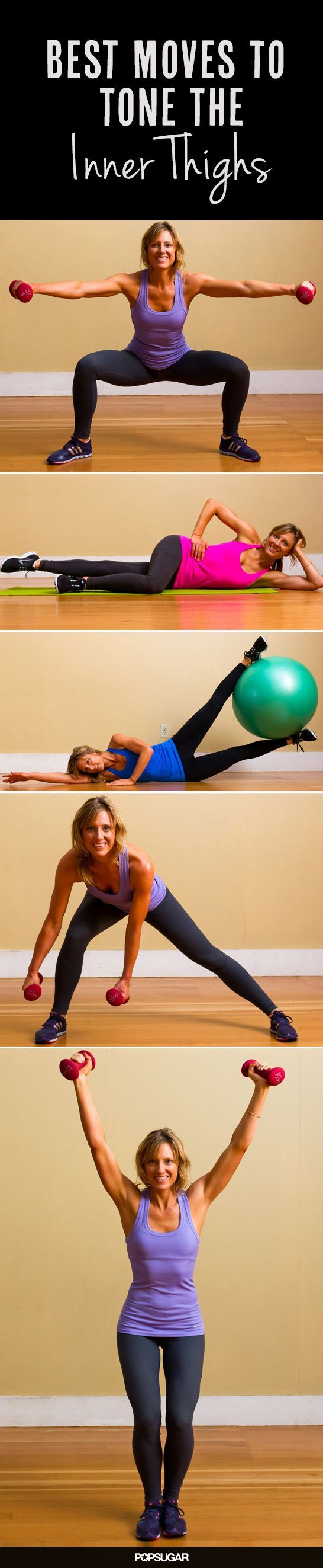 16 Moves to Terrifically Toned Inner Thighs #workout #fitness #tone