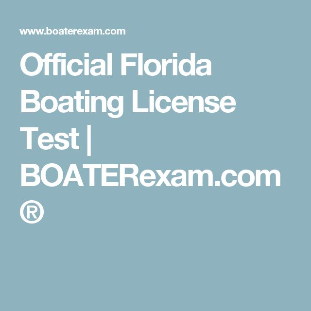 Official Florida Boating License Test | BOATERexam.com®