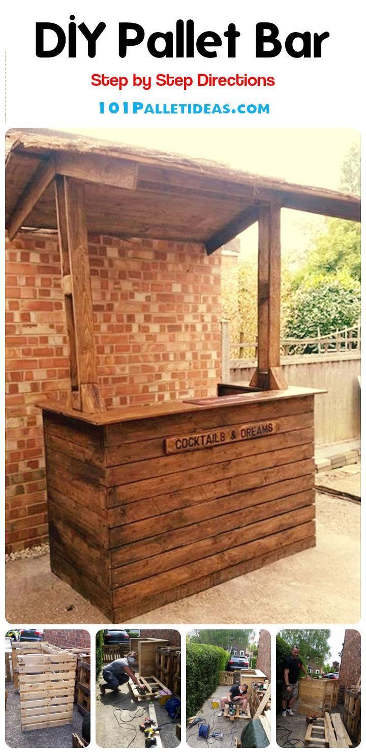 Easy DIY Wood Pallet Bar Project - 100% Pallets | 101 Pallet Ideas
