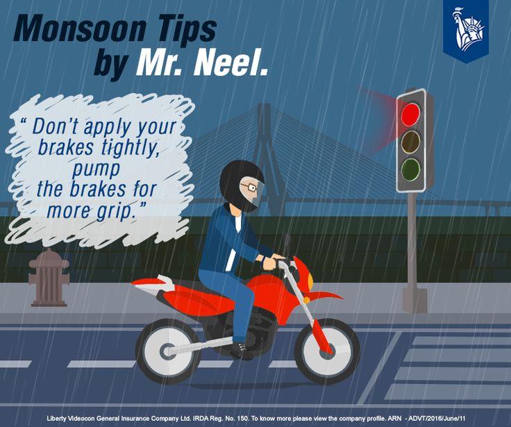 Monsoon Tips: Mr Neel does so to avoid skidding