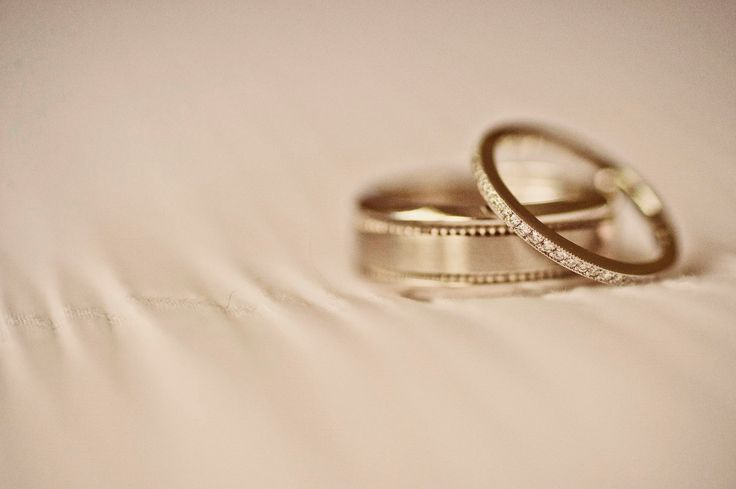 Our diamond and white gold wedding bands photographed by Shona Henderson Photography. To see the full story or publish your wedding, visit Wedding Vault today!