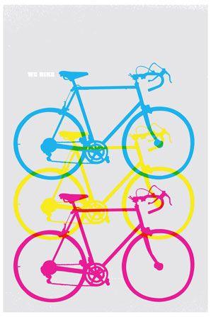 We Bike Overprint Greeting Card