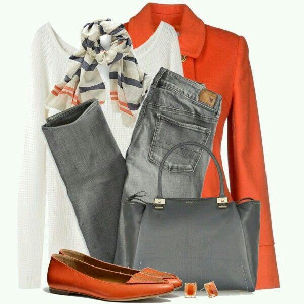 Naranja y gris