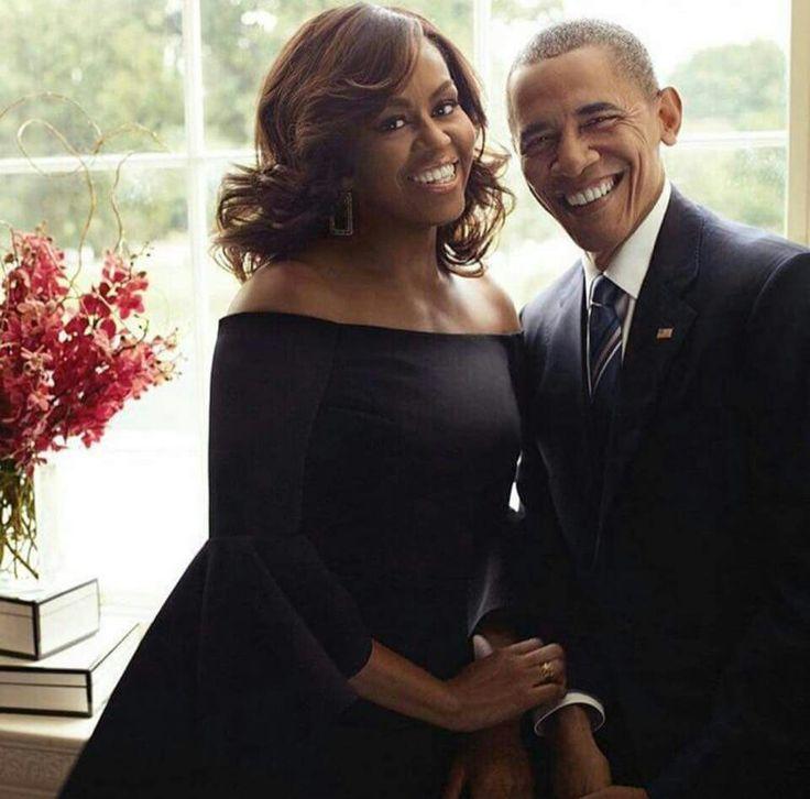 Michelle Obama and President Barack Obama