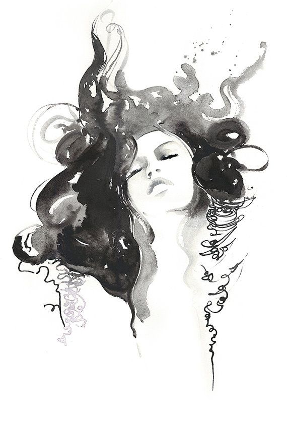 Hey, I found this really awesome Etsy listing at https://www.etsy.com/uk/listing/165253671/ink-watercolor-fashion-print-fashion