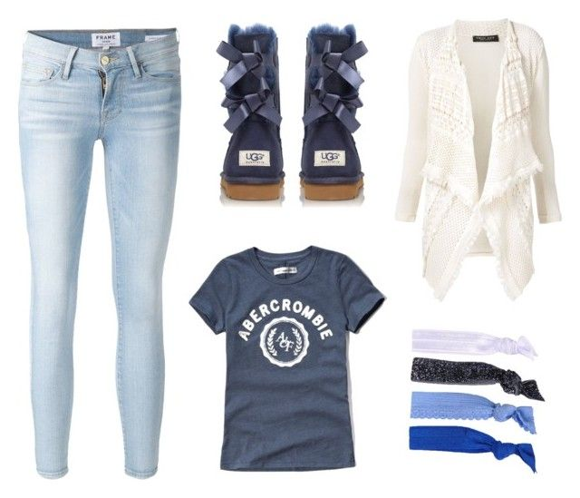 """Untitled #5"" by luc-ka on Polyvore featuring Frame Denim, Abercrombie & Fitch, UGG Australia, Twin-Set and Glam Bands"