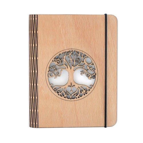 Engraved wooden notebook #handmadenotebook #treeoflife #gifts #woodenstuff