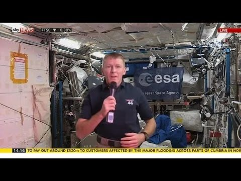Tim Peake's First News Conference From Space
