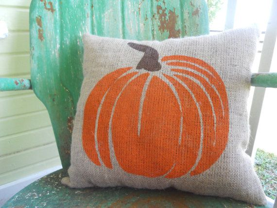 Soft furnishings are easily overlooked, but how lovely is this #pumpkin #cushion.