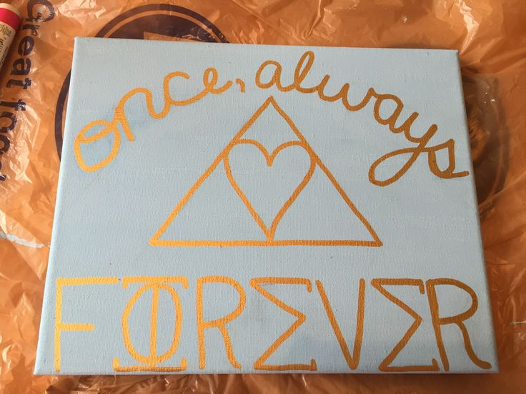 "Phi Sigma Sigma ""once, always"" sorority canvas"