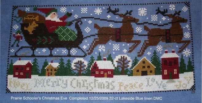 prairie schooler a prairie christmas rabbit | Christmas Eve - Prairie Schooler - I love it on the blue fabric