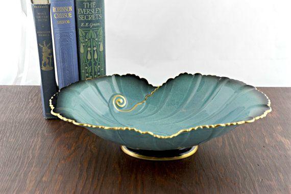 Vintage Carlton Ware Bleu Royale Bowl  Antique by LoAndCoVintage