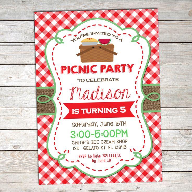 Picnic Birthday Invitation , Summer Birthday Invitation,Printable Picnic Birthday,BBQ Picnic Invitation, Picnic Party Invitation by TheLovelyDesigns on Etsy https://www.etsy.com/listing/386198516/picnic-birthday-invitation-summer