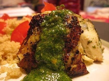Grilled Halibut with Chimichurri | Yummy in my Tummy! | Pinterest