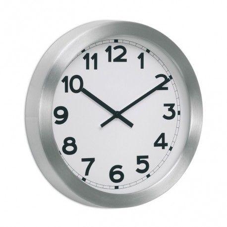Reloj pared White XL Reloj de pared con perfil de aluminio y fondo blanco. Disponible en diámetros de 38, 60 y 75 cm. Fondo 5,5 cm. Batería no incluida.