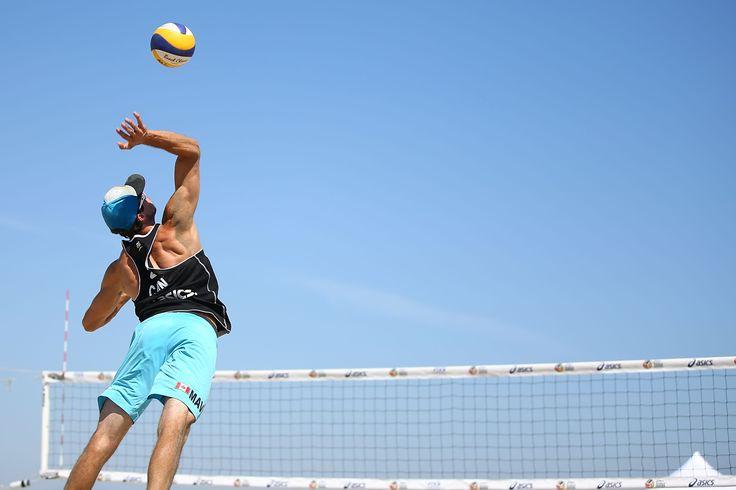 Maverick Hatch of Canada at FIVB Beach Volleyball World Tour Long Beach Grand Slam