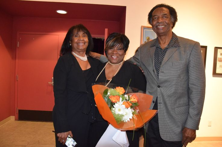 Laverne and Dennard with Kim McMillon at The Black Arts Movement held at the Multicultural Center in Merced.