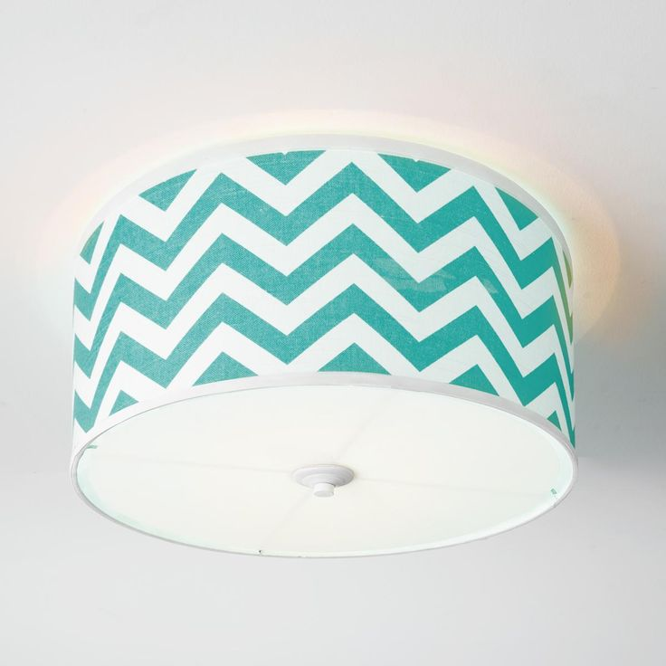Chevron Shade Ceiling Light - too matchy matchy with the bedspread???