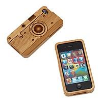 Wood iphone camera case.