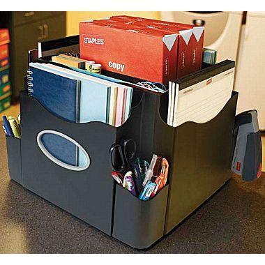 Desks organizers and school materials on pinterest - Spinning desk organizer ...