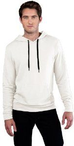 Yoga Clothing For You Mens French Terry Pullover Hoodie, 2XL White #yogaclothingformen