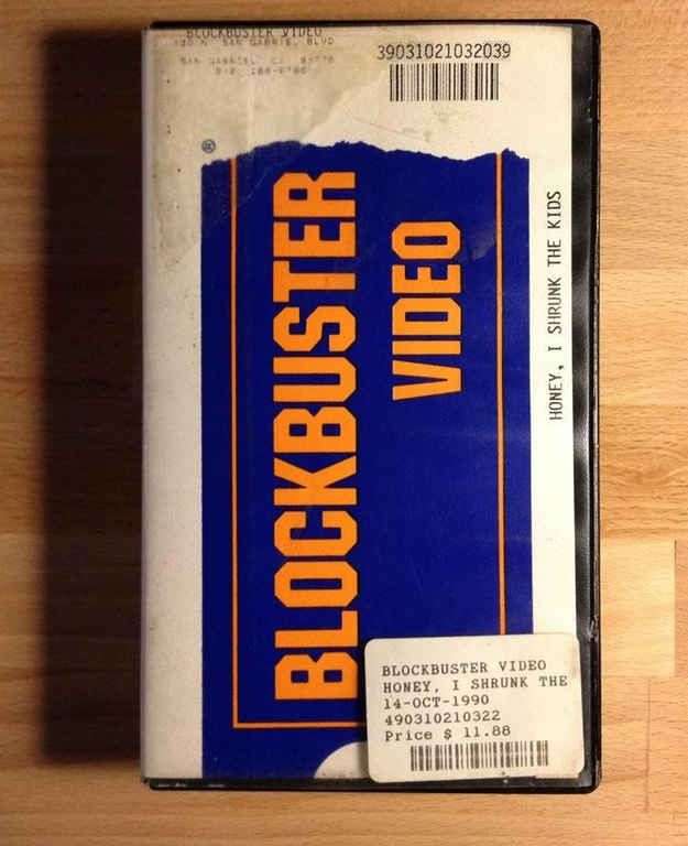blockbuster video was the stable of 80's-90's culture. going to the blockbuster store to get a tape for your vcr for the weekend.