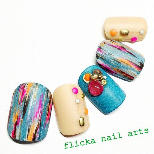 ネイル 画像 flicka nail arts  916650 ソフトジェル ハンド