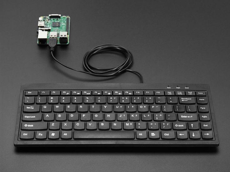 Mini Chiclet Keyboard - USB Wired - Black ID: 1736 - $14.95 : Adafruit Industries, Unique & fun DIY electronics and kits
