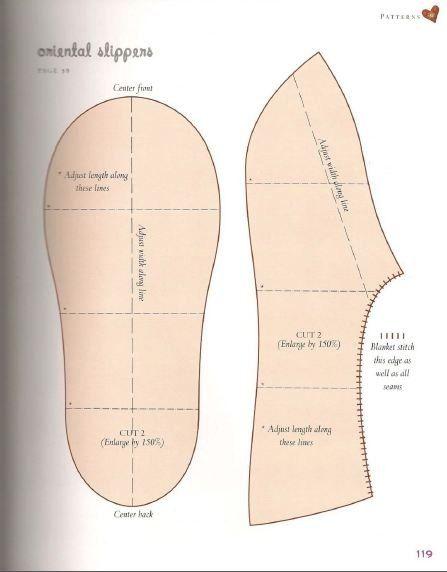 Ideas para el hogar: Zapatos de abrigo realizados reciclando una prenda de lana que ya no usas con simple costura y plantilla