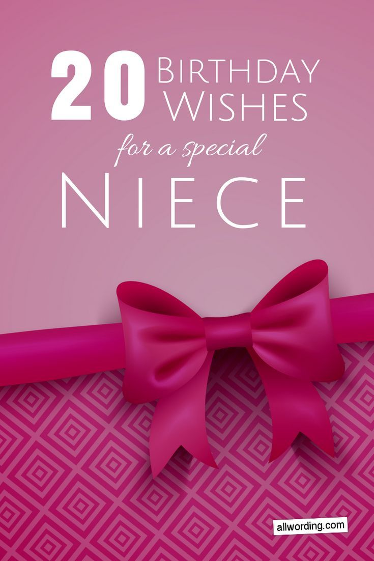20 Birthday Wishes For A Special Niece Saying Happy Birthday
