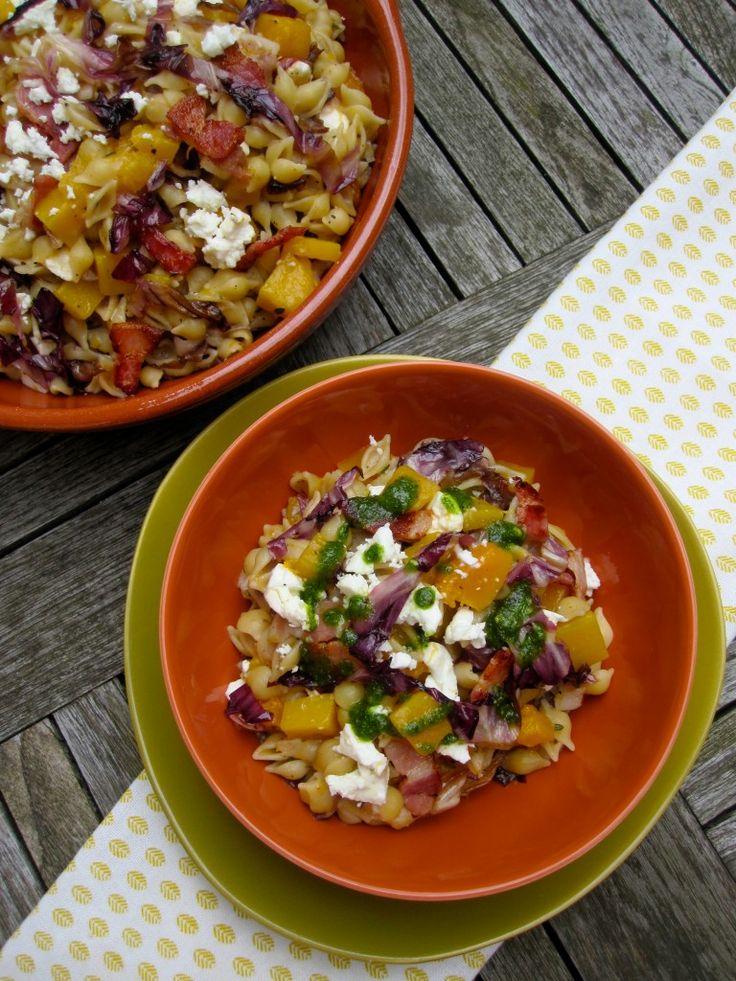 Recept voor pompoenpasta met hazelnootpesto