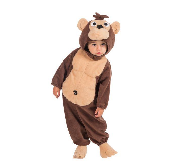 Disfraz de Mono para Bebé de 18 meses. Alta Calidad, hecho en España. Se compone de Mono con Capucha.