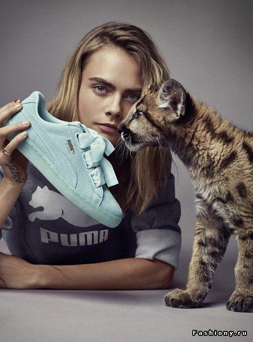 Кара Делевинь в рекламной кампании Puma