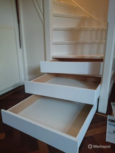 Unieke schoenen(opberg)kast in uw traptreden