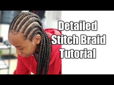 Best Stitch Braid Tutorial Youtube Braid Tutorial