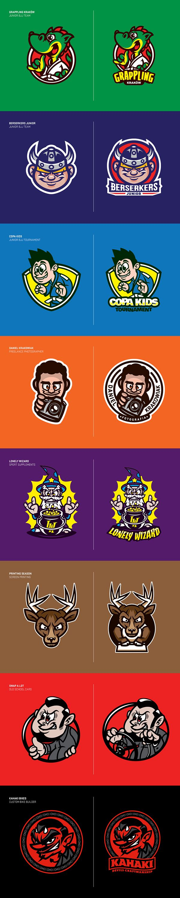 Cartoon Logos Pack on Character Design Served