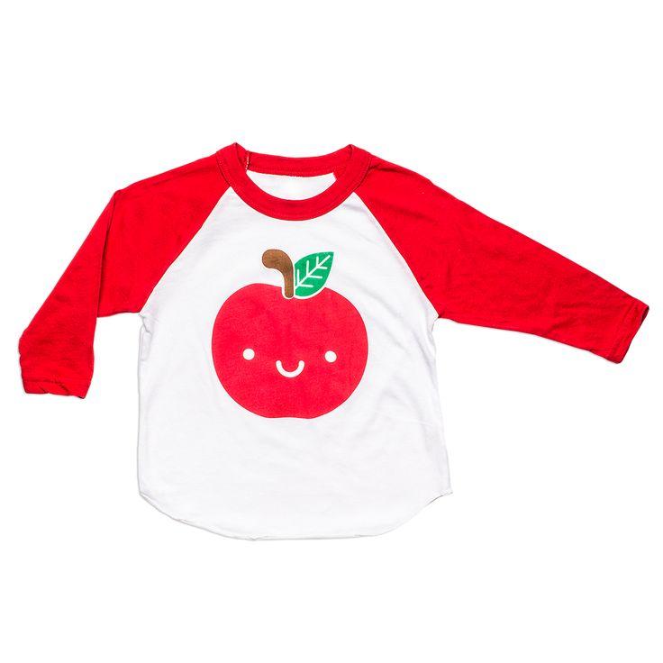 Kawaii Apple Baseball T-Shirt from Whistle & Flute