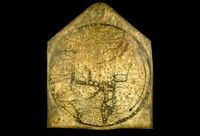 The Hereford Mappa Mundi c.1300. The Hereford Mappa Mundi is unique in Britain's heritage; an outstanding treasure of the medieval world, it records how thirteenth-century scholars interpreted the world in spiritual as well as geographical terms.