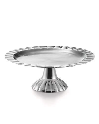 Silhouette Scalloped Cake Stand
