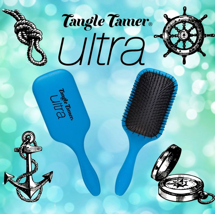NEW Denman Blue Tangle Tamer Ultra Brush! Perfect to detangle long thick hair!