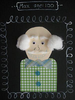 portrait d'un grand-père dans un conte
