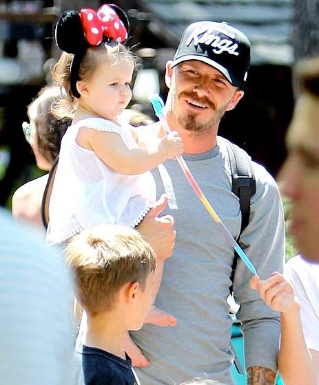 Celebrity Dads - David Beckham and daughter Harper.