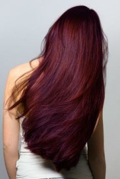cherry cola hair color with highlights - Google Search