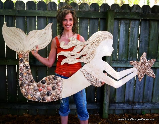Wooden Mermaid Wall Decor 97 best mermaids - stone, sea glass, shell images on pinterest